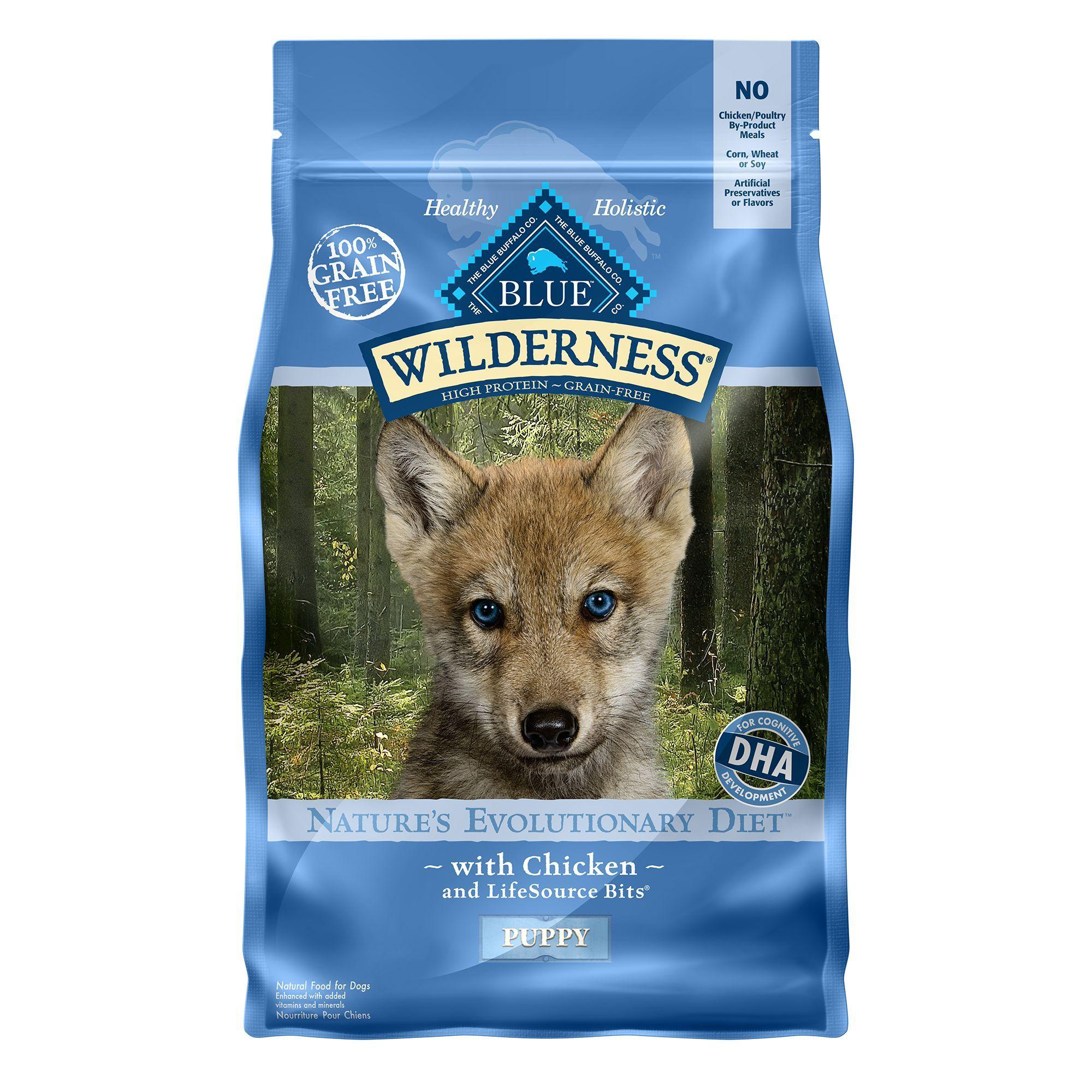 Blue Buffalo Wilderness Puppy Food Grain Free Natural Chicken