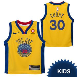3df615ece80 Golden State Warriors Nike Dri-FIT Kids Chinese Heritage 'The Bay' Stephen  Curry #30 Replica Jersey - Gold