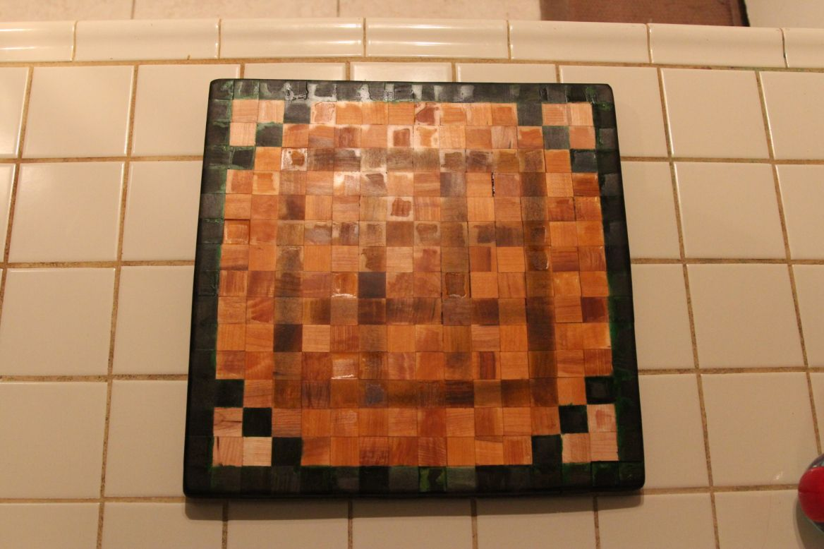 Cool Cutting Board Designs A Very Cool Cutting Board Based Off Of A Minecraft