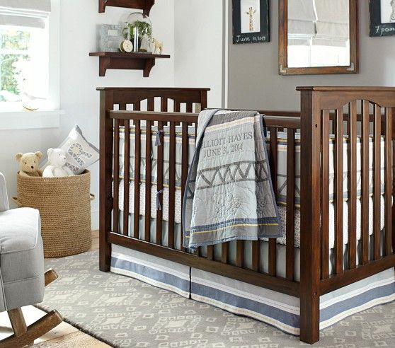 Kendall Fixed Gate Crib In Quot Tuscan Quot Pottery Barn Kids