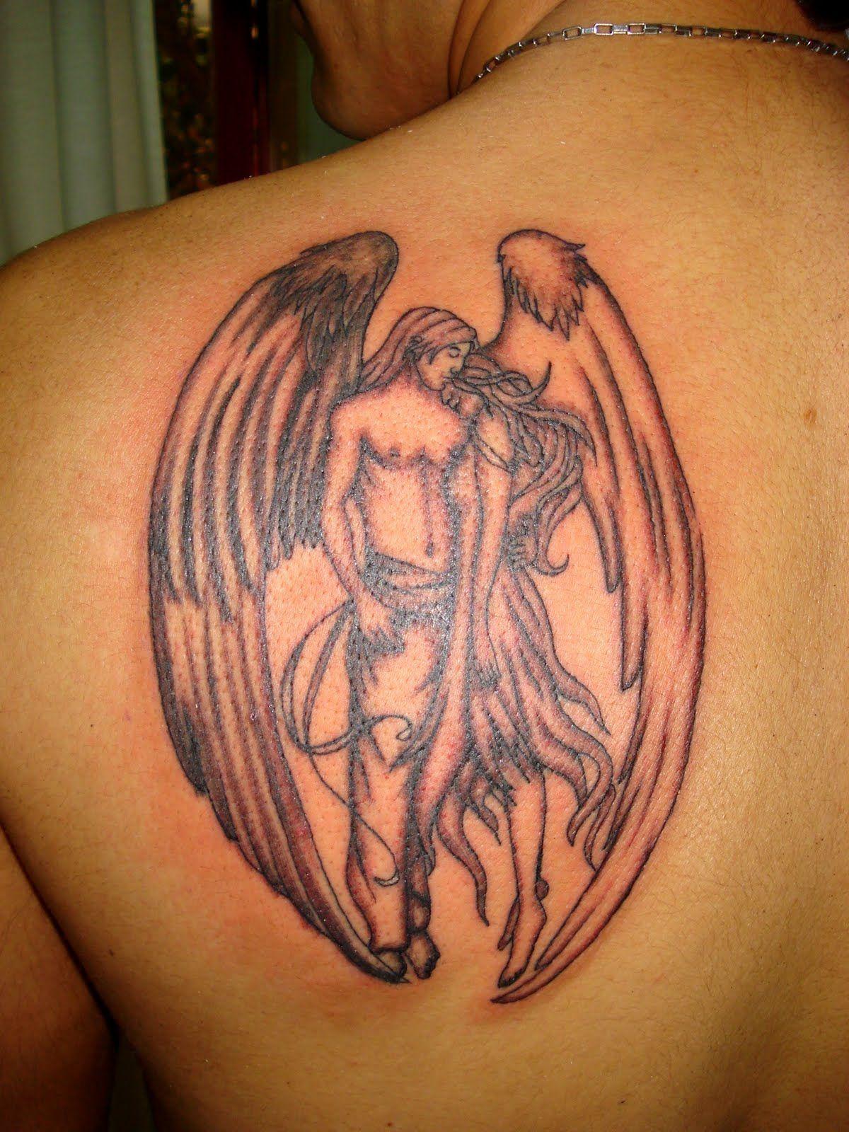 Back Shoulder Guardian Angel Back Shoulder Tattoo Designs