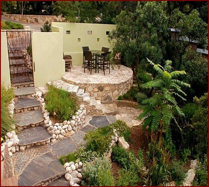 25 great stone patio ideas for your home - Different Patio Designs