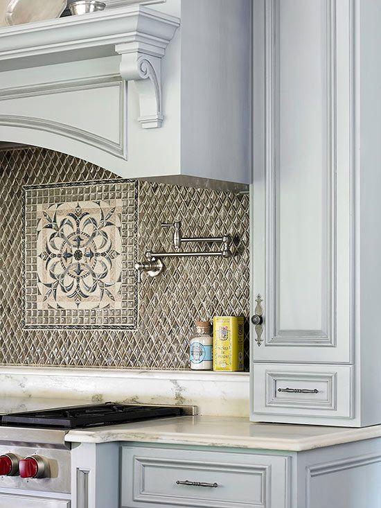 Kitchen Backsplash Ideas Java, Marbles and Ivory