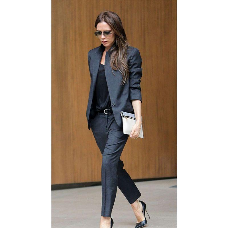 Image result for dark grey suit womens   pantsuit   Suits, Ladies ... 089ea95a8ed