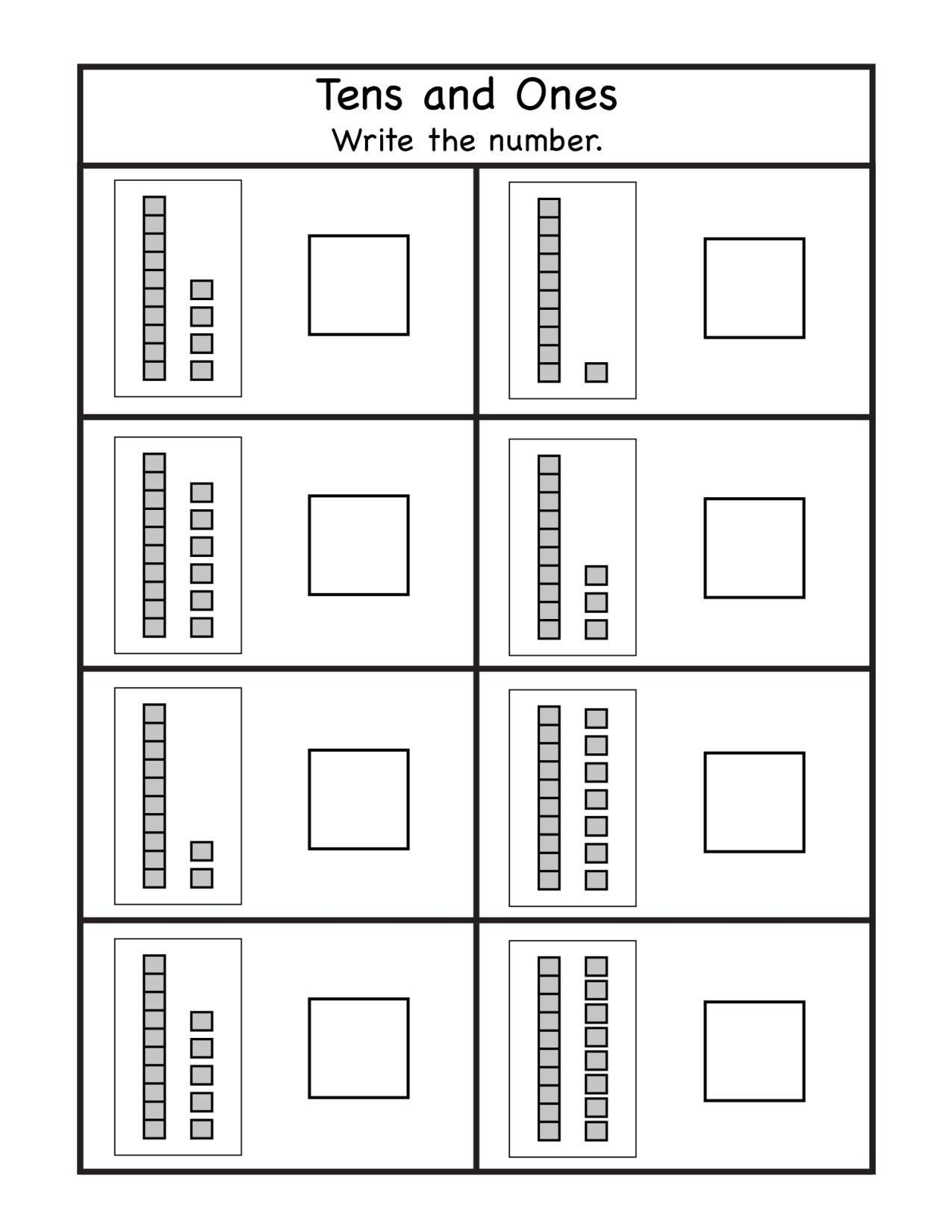 20 Tens And Ones Worksheets Kindergarten In