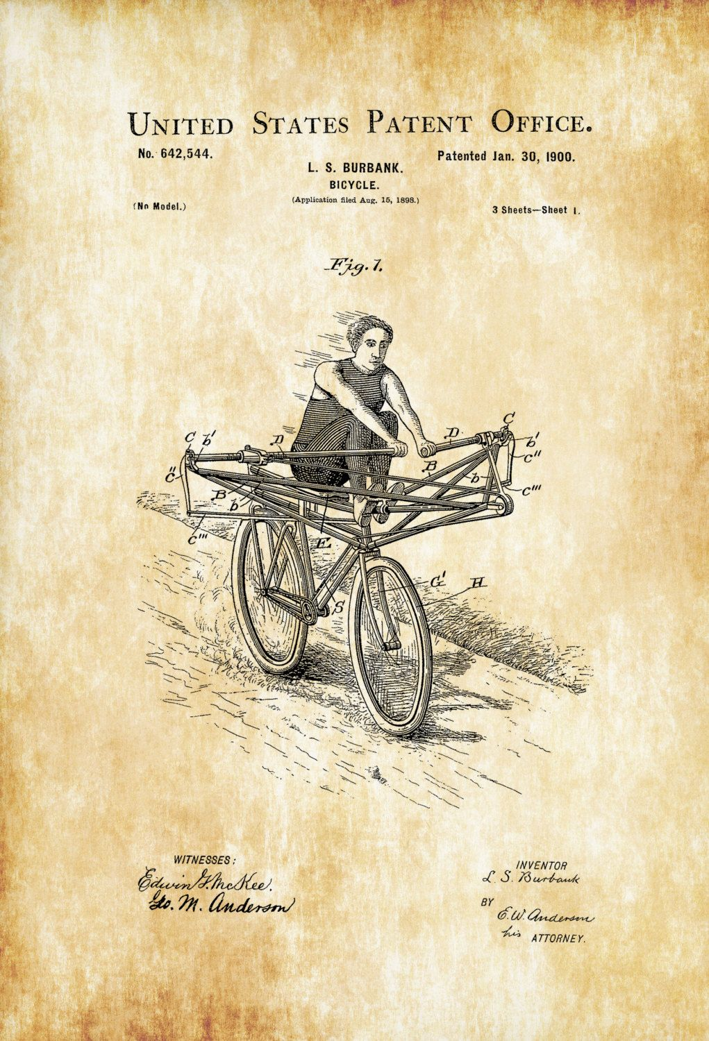 Rowing bicycle patent vintage bicycle bicycle blueprint bicycle rowing bicycle patent vintage bicycle bicycle blueprint bicycle art cyclist gift bicycle decor bicycling enthusiast bicycle patent malvernweather Image collections