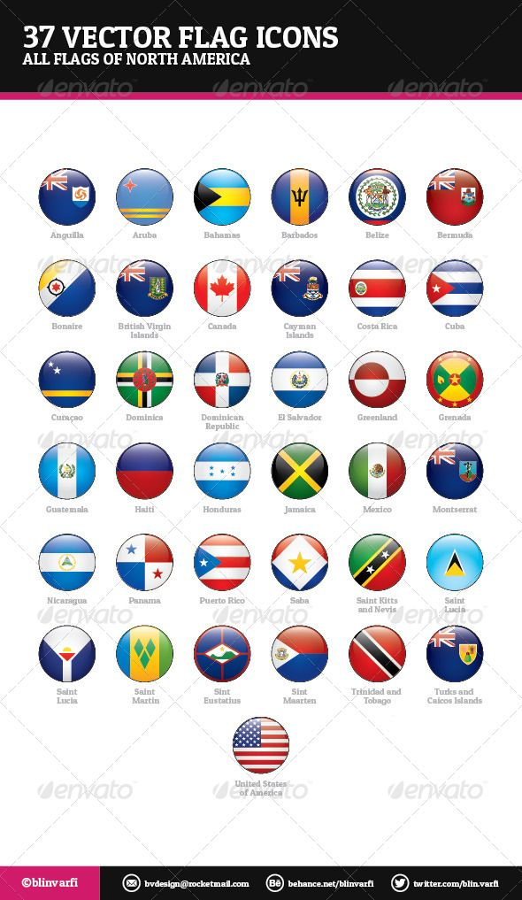Flags Of North Central America And Caribbean Flag Icons Flag Vector Flag Icon Flag
