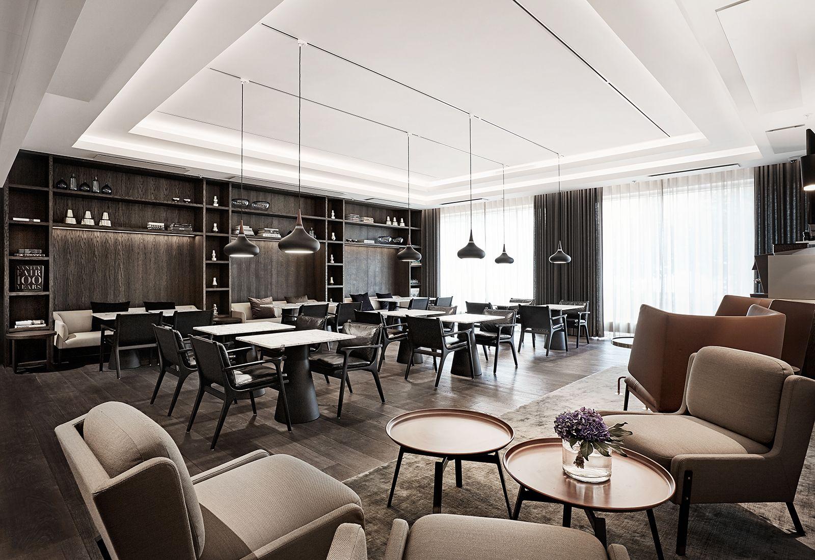 Marriott copenhagen executive lounge interior design by helle