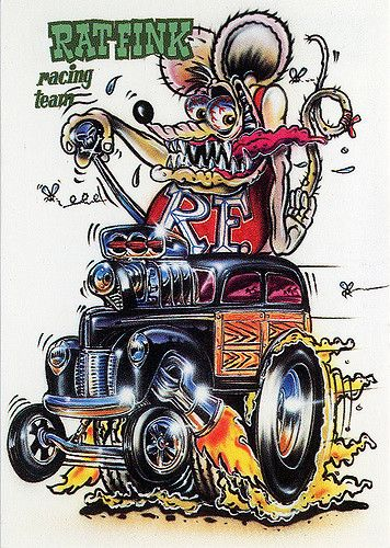Rat Fink Ed Big Daddy Roth Rat Fink Racing Team Rat Fink