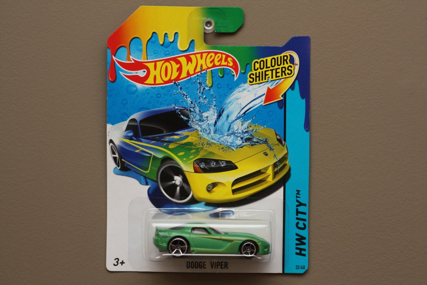 Hot Wheels 2014 Color Shifters Dodge Viper Teal To Yellow