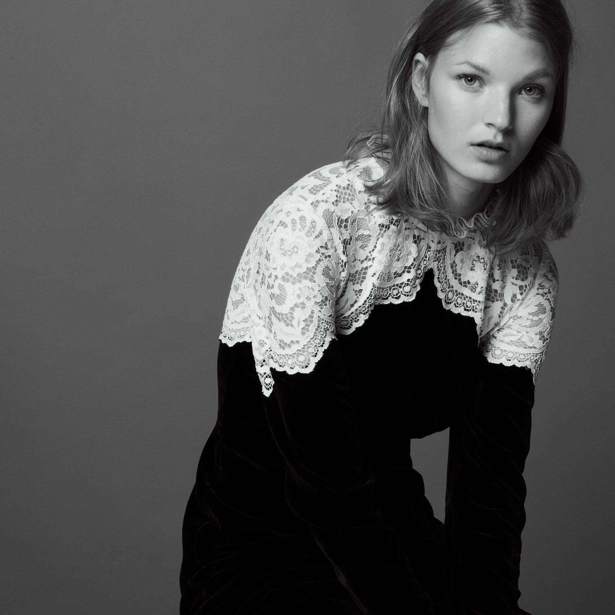 Velvet And Lace Dress Dresses Sandro Pariscom Whbm