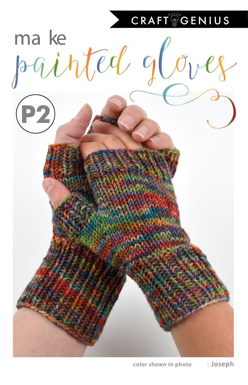 This original fingerless glove pattern has been designed exclusively for Crafted Life and showcases the incredible hand-dyed American Worsted yarn by MJ Yarns. You may choose to knit them in whatever