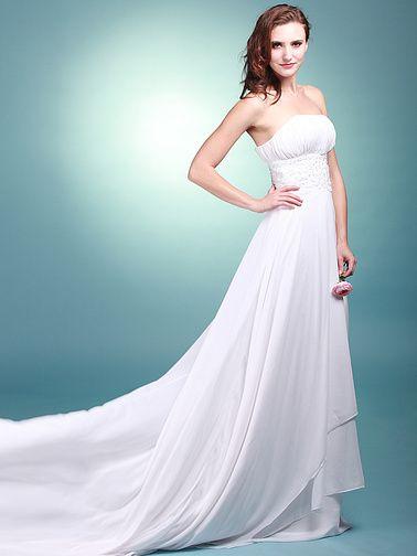 flowy beach wedding dress | ... Beach Sheath Flowy Wedding Dresses ...