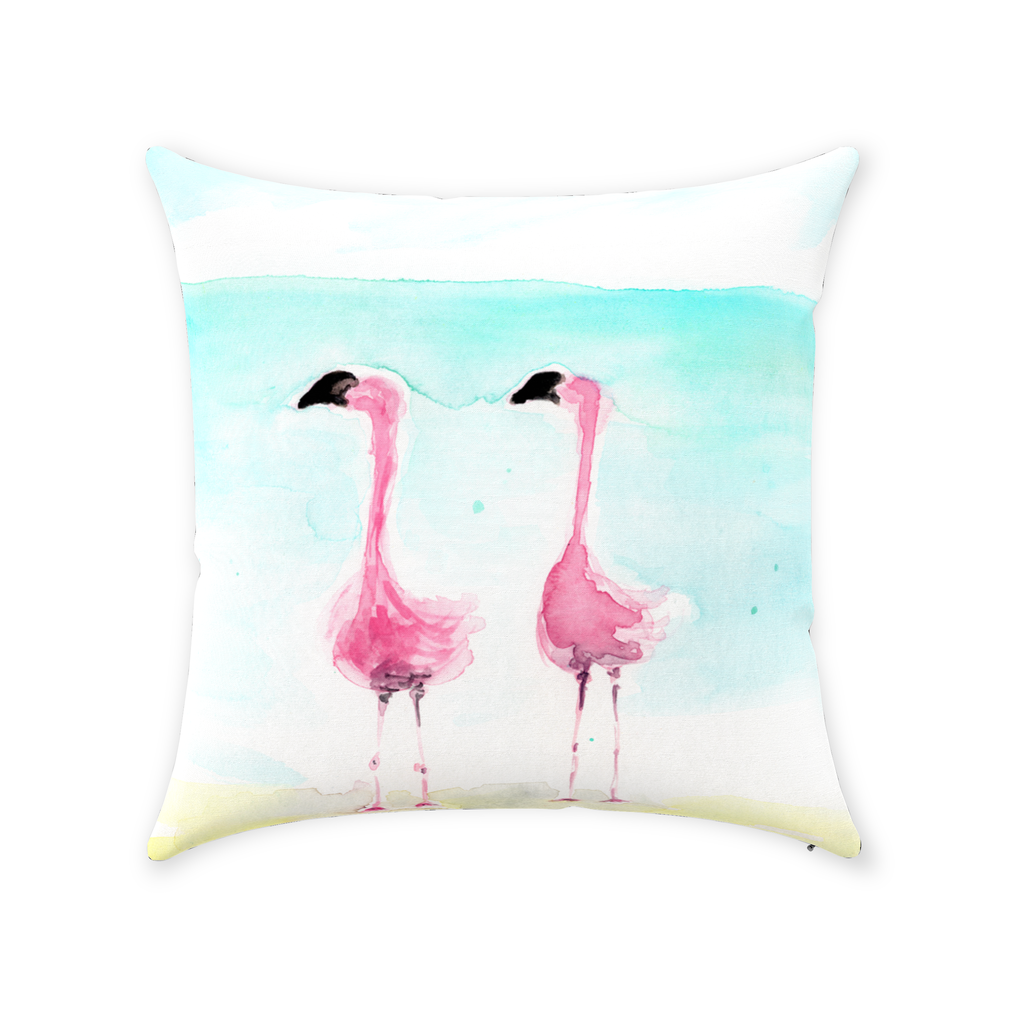 Make your friends jealous with these fabulous flamingos on your sofa or chair! And what a surprise to find on the back, #thinkpink! A quote I'm sure you'll love!
