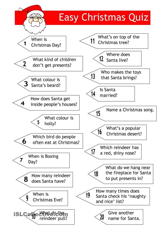 Quiz Easy Xmas Quiz Christmas Quiz Christmas Worksheets Christmas Trivia