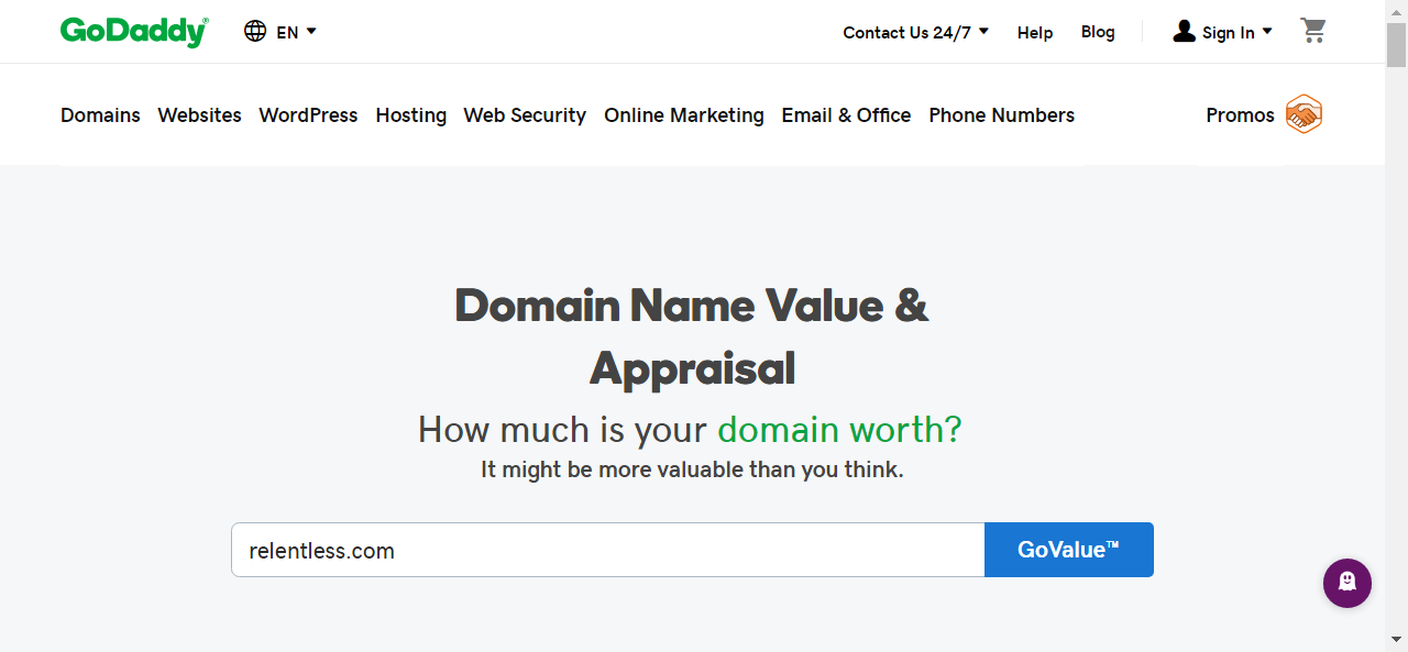 Free Domain Value and Appraisal Tool What is your domain