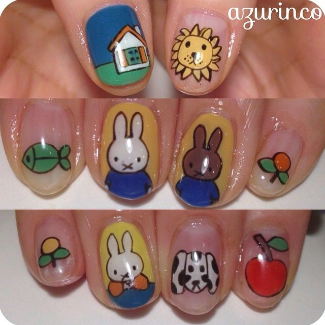 Look at these Miffy nails!