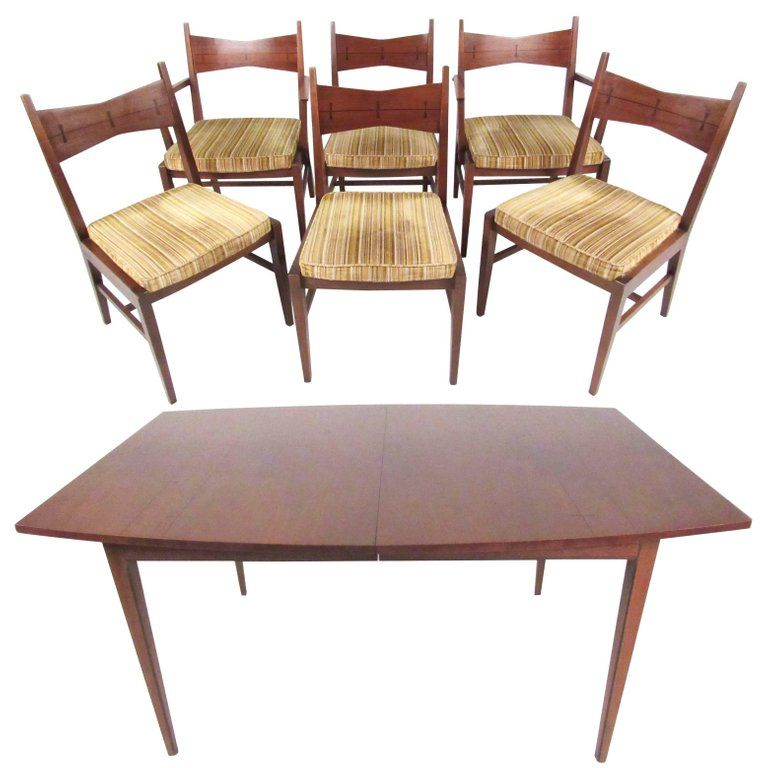 Mid Century Modern Dining Table And Chairs By Lane Modern Dining