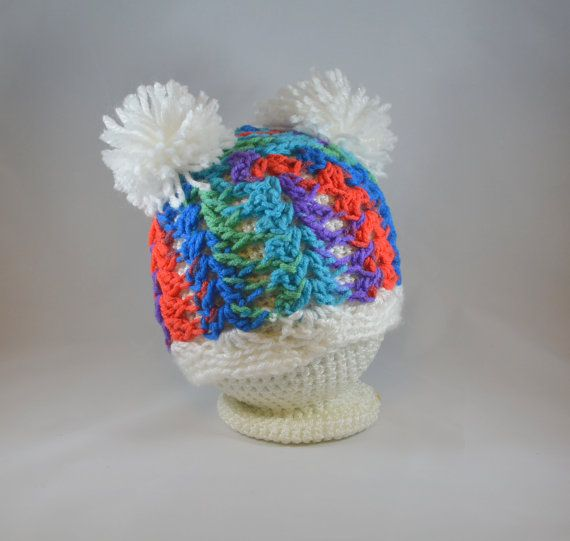 5633b2d7c Meet the pom pom shell stitch beanie cap! Comes in all colors and is ...