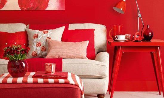 Wohnzimmer Rot Die Moderne Farbe