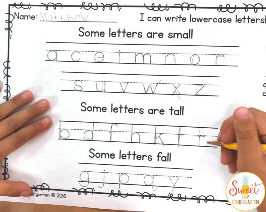 Lowercase Letter Practice Freebie In