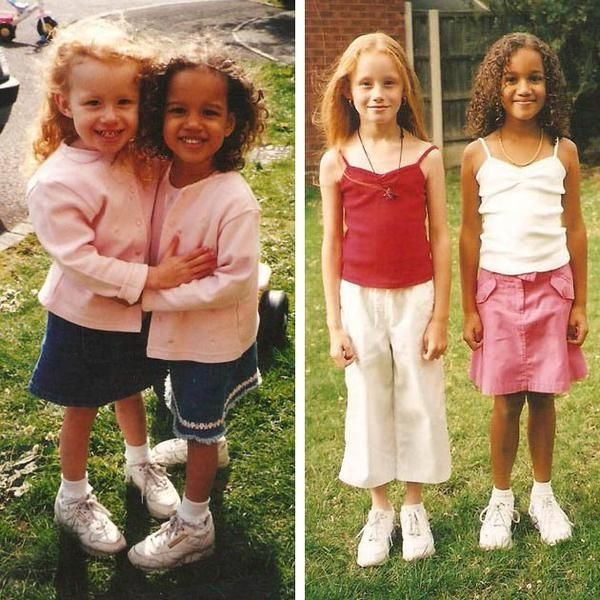 aylmer girls (cnn) here's a pair of images of the aylmer sisters of gloucester the girls were born to a white father and a biracial mom in 1997.
