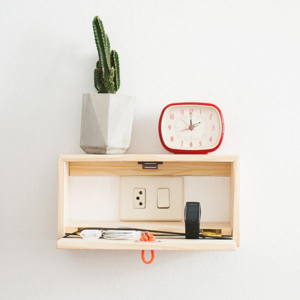 Floating Shelf That S Also A Charging Station Design Milk Wall Hanging