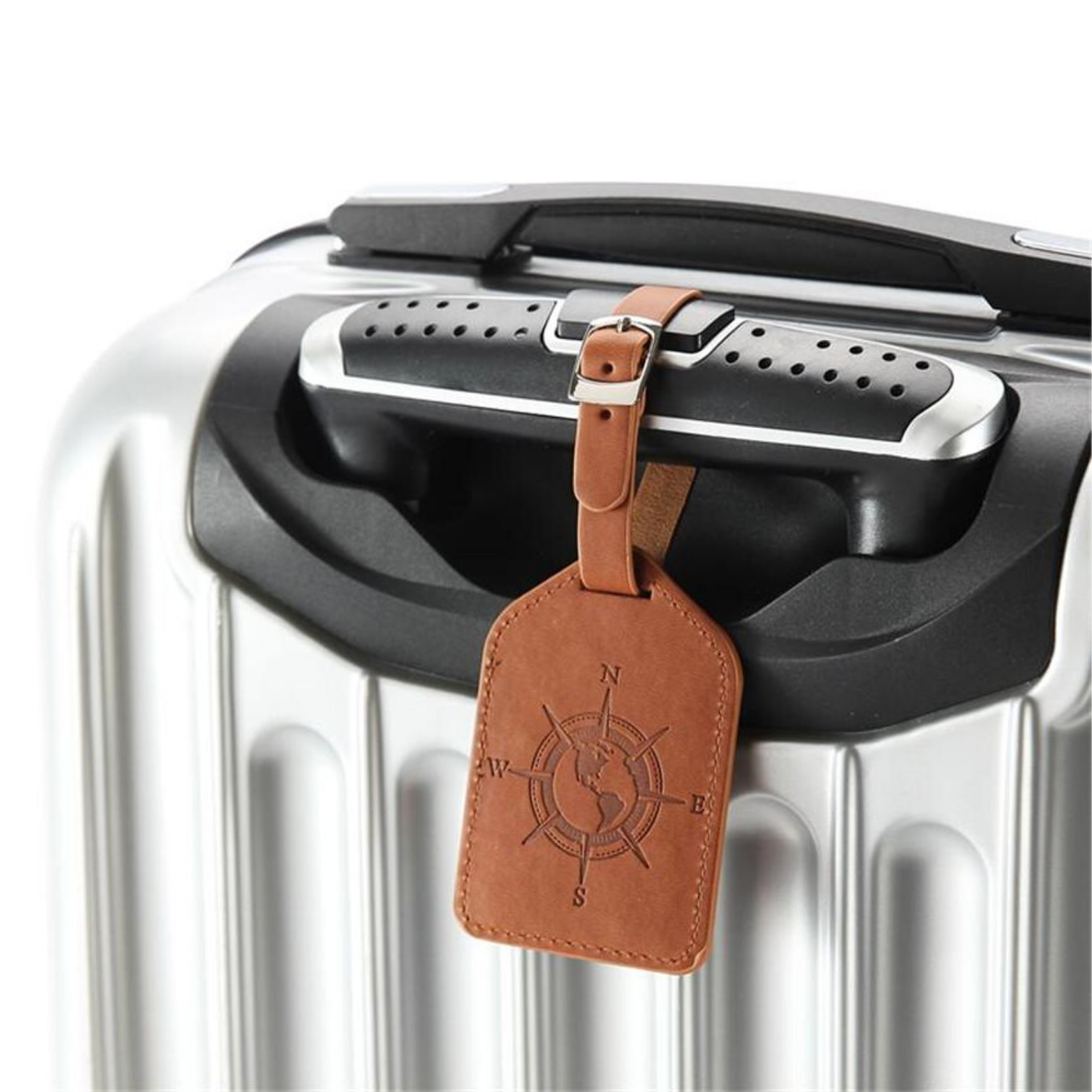 PU Leather Luggage Tag Label Suitcase Tags Tag Travel Accessory