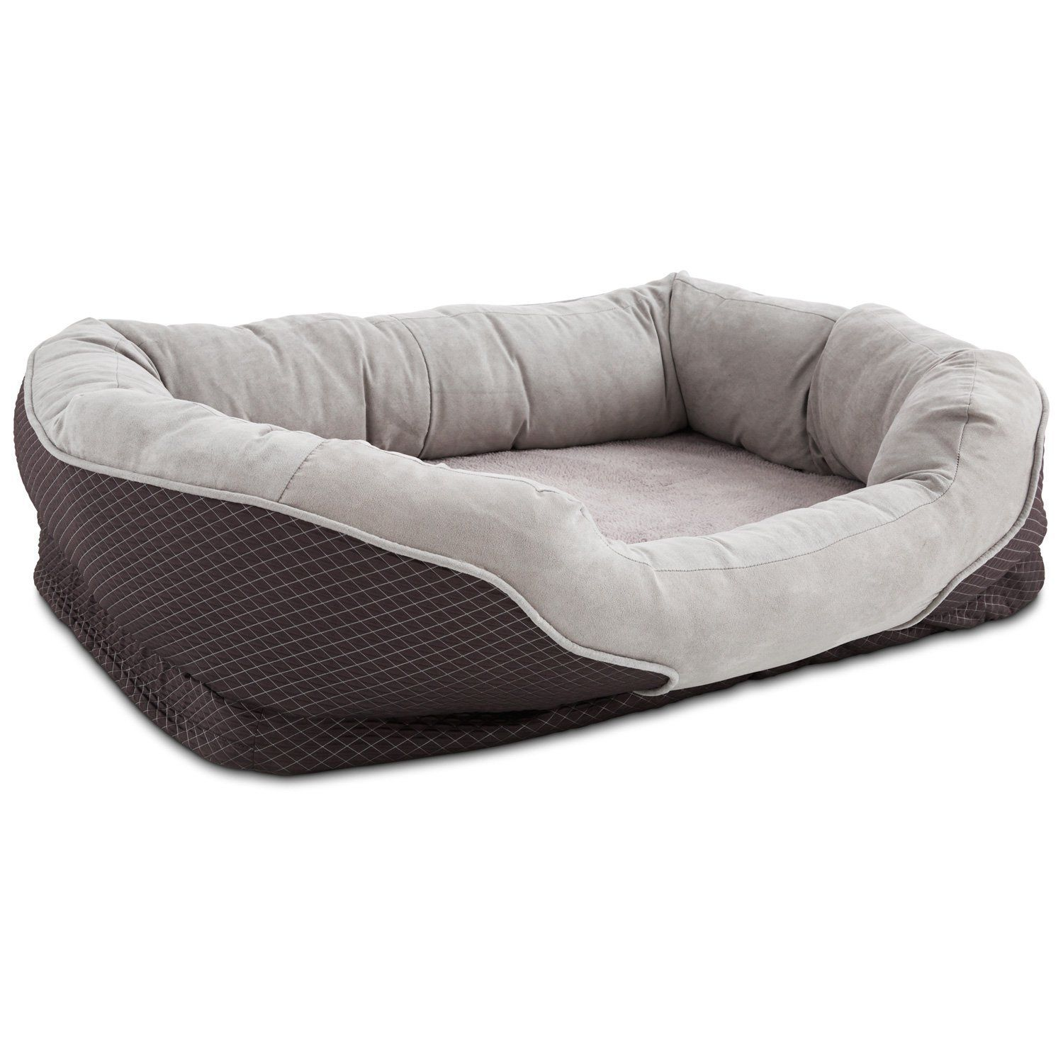 Amazon Petco Orthopedic Peaceful Nester Gray Dog Bed 40
