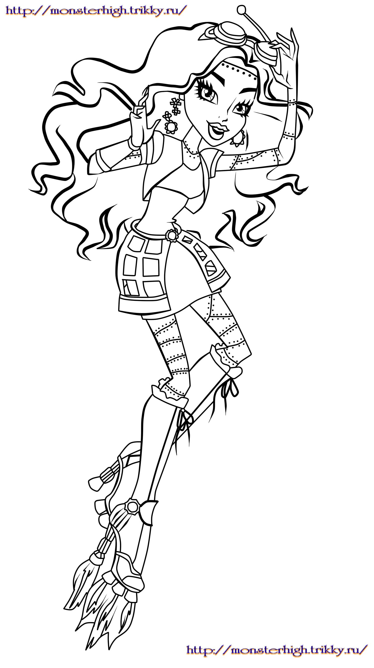 Monster high Colouring Pages Pinterest