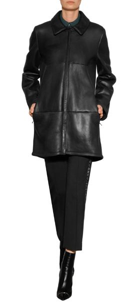 Rendered+in+luxe+black+lambskin JIL SANDER