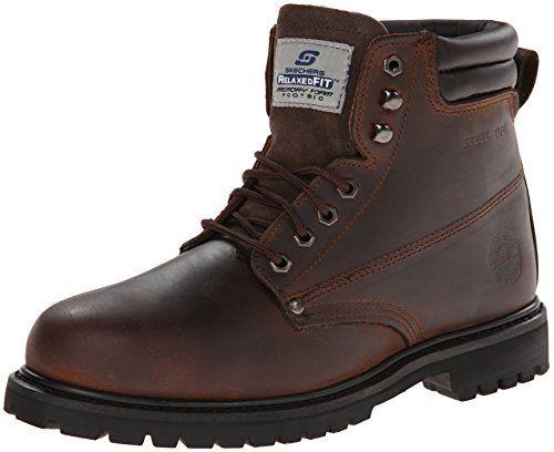 ea61cc91ec9 Skechers for Work Men's 77044 Foreman Concore Steel-Toe Boot ...