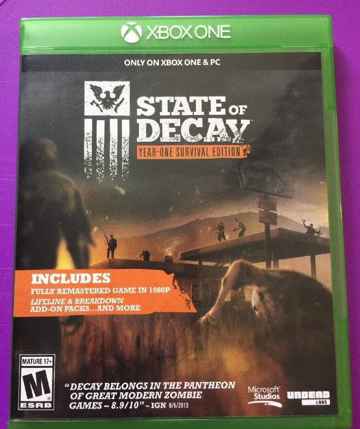 State Of Decay Year One Survival Edition Xbox One Ebay Ebay