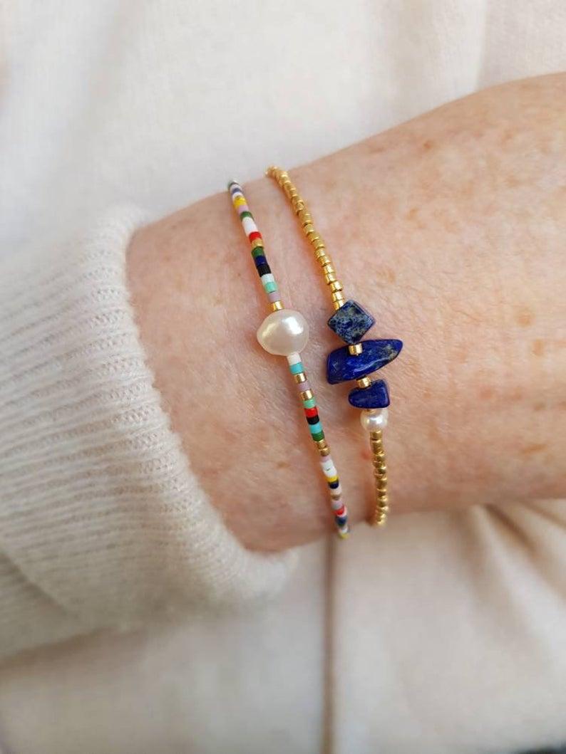 Dainty Freshwater Pearl Bracelet, Minimalist Tiny