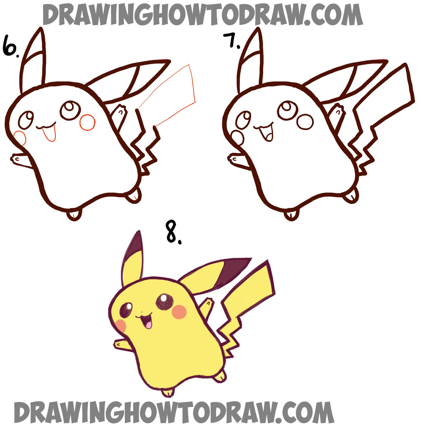 Nice How To Draw A Cute Baby Pikachu Simple Step By Step Drawing Tutorial