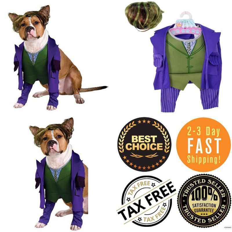Stylish Joker Dog Costume Pet Batman The Dark Knight Halloween