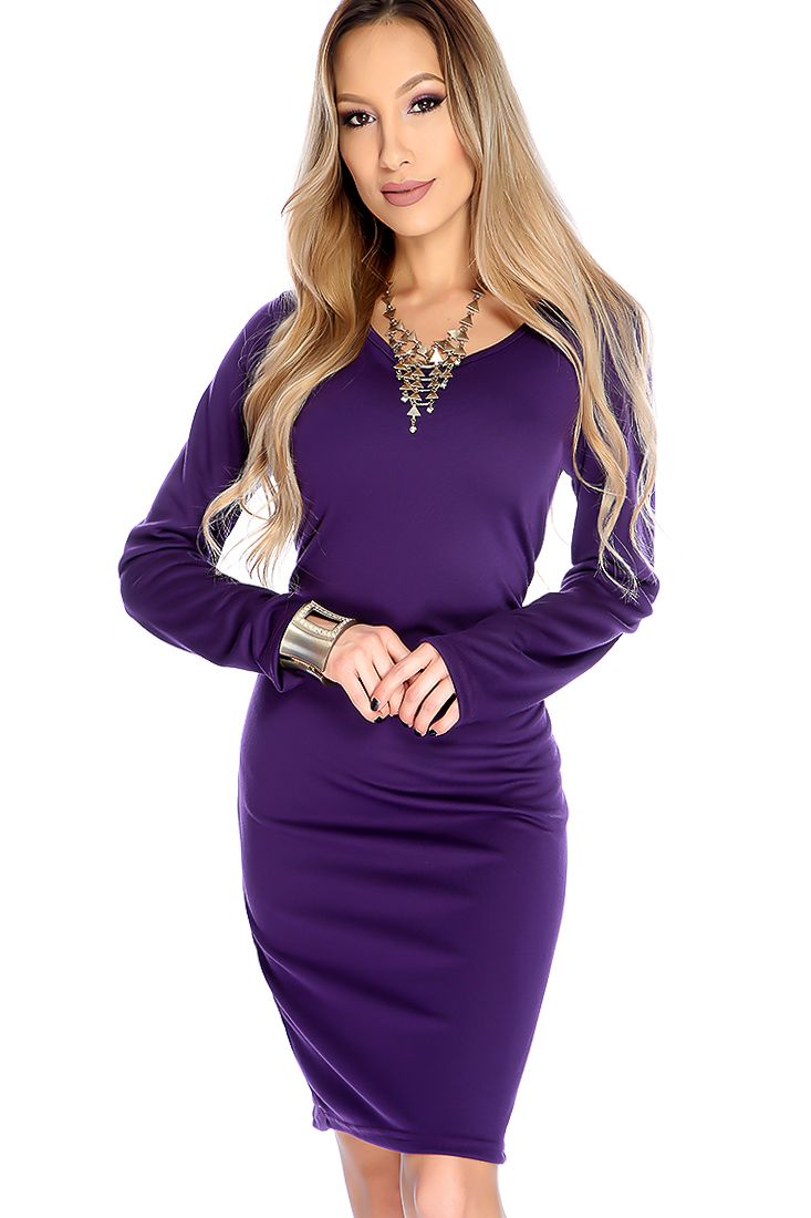 Get laced in this sexy party dress it features; scoop neck, long sleeves, lace up back detailing, and bodycon fitted. 100% Polyester.