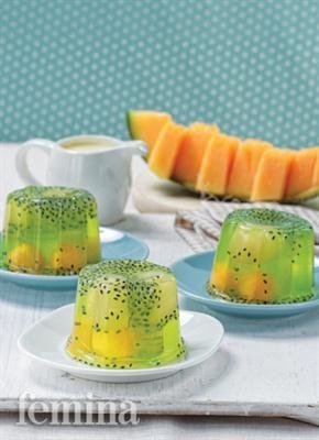 Puding Melon Saus Yoghurt Hidangan Internasional Resep Kuliner Pudding Desserts Resep Makanan