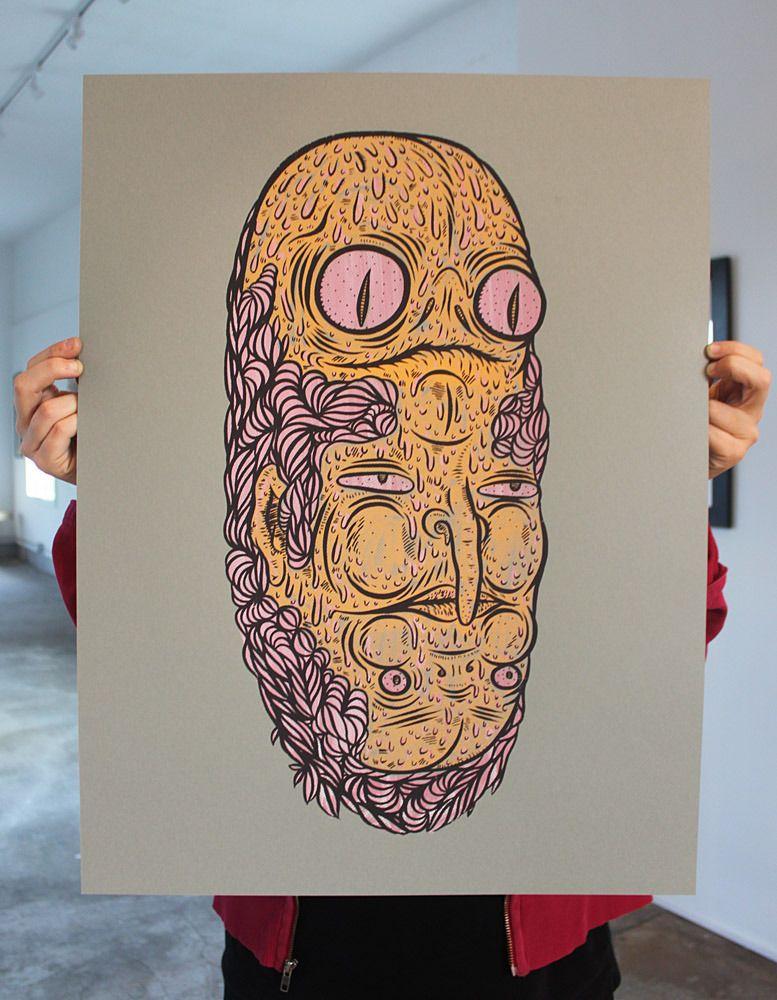 Image of HIWTAI - Griff MallGrheel - Mike Turzanski - unframed