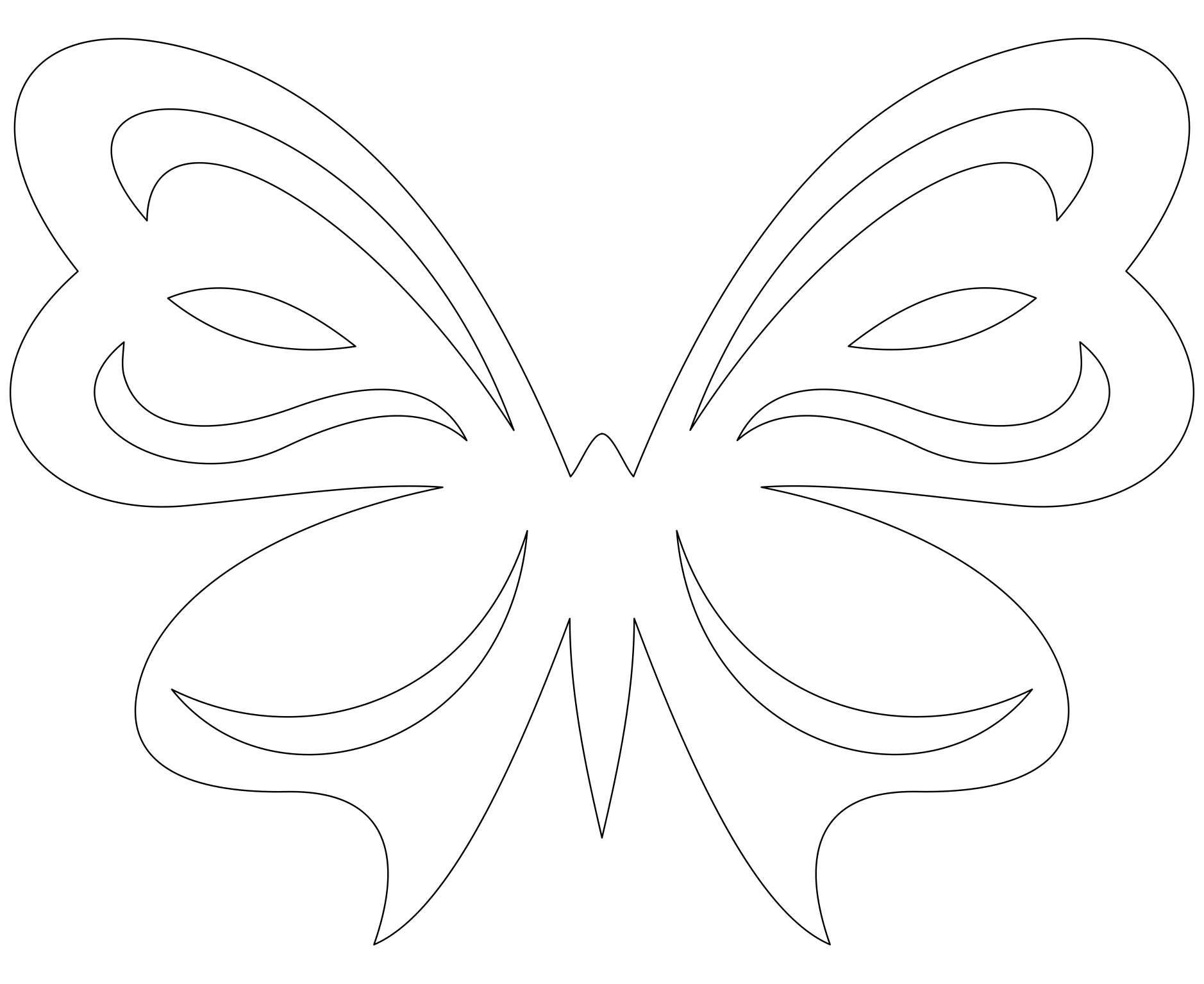 Открытка, трафареты бабочек для открыток
