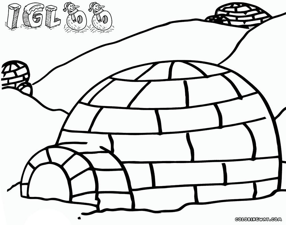 38 Coloring Page Of An Igloo In 2020 Coloring Pages Printable Coloring Color