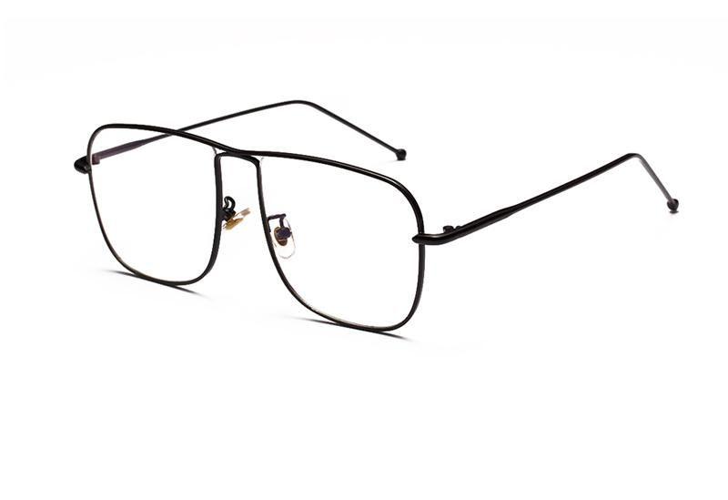 a2bcea307ed Peekaboo vintage square eyeglasses frames men gold 2018 black silver metal glasses  frame women fashion high quality