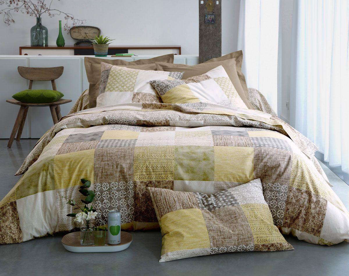 patchwork linge de lit Linge de lit motifs façon patchwork | BECQUET | Becquet  patchwork linge de lit