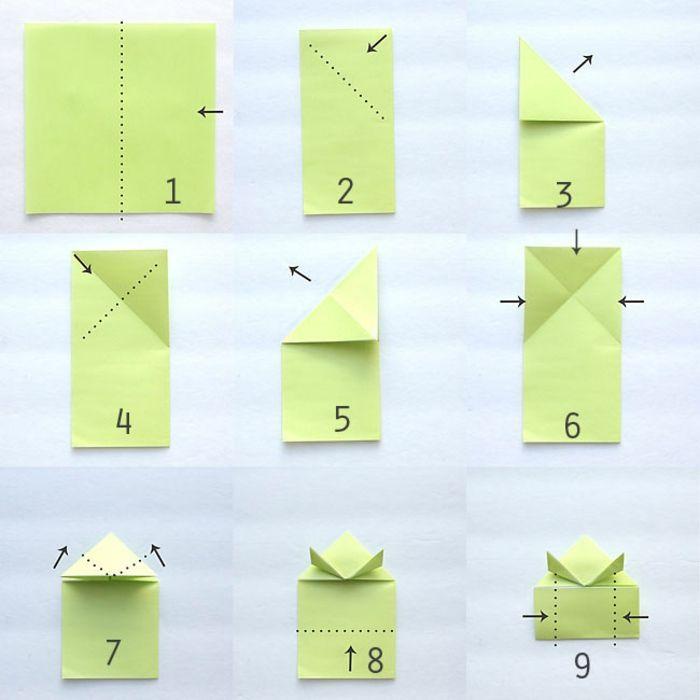 1001 id es originales comment faire des origami facile origami animaux papier color s et - Origami facile a faire animaux ...