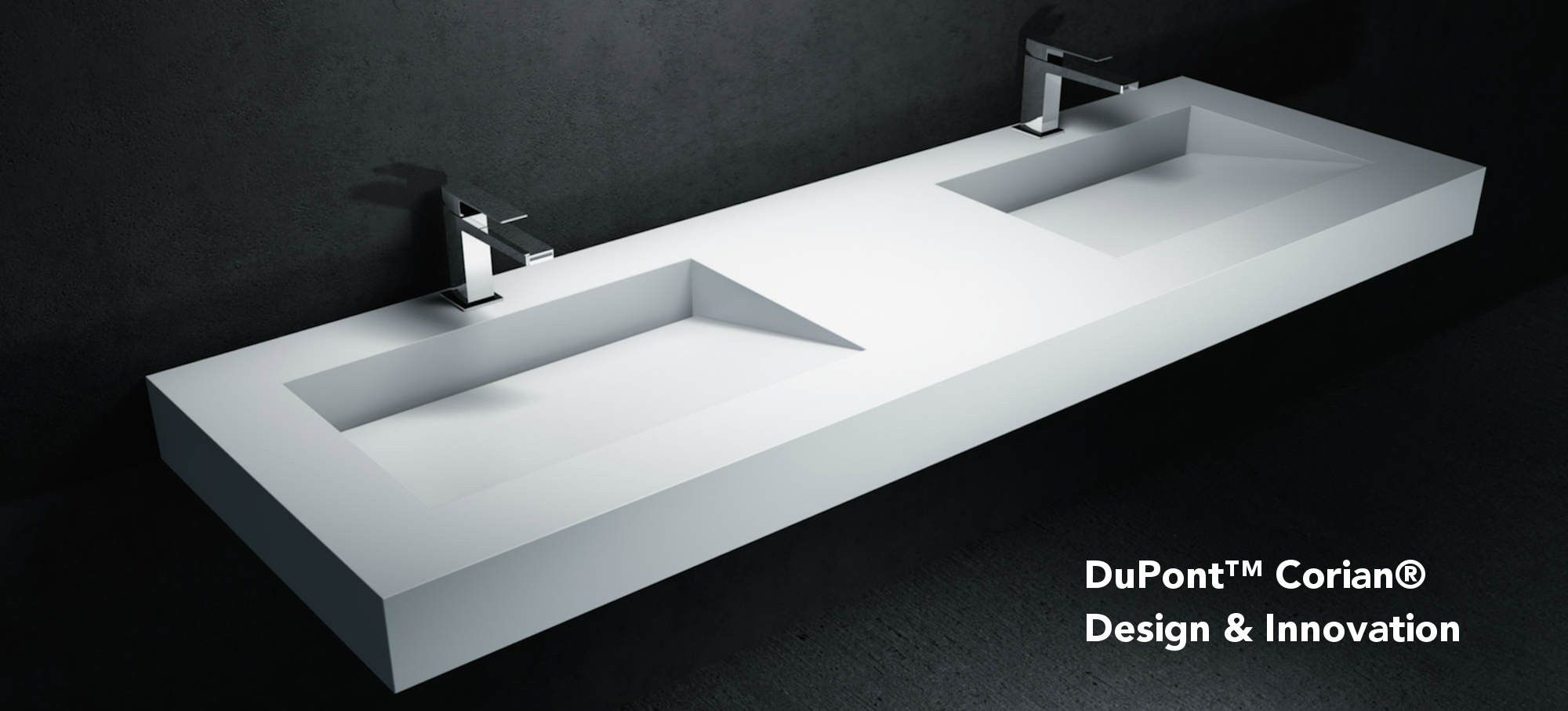 Plan vasque Corian® by DuPont™ Tennessee  Plan sdb