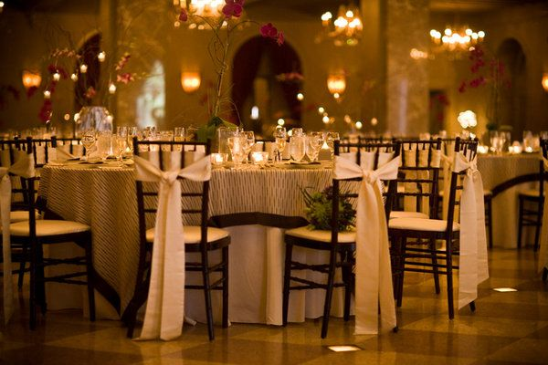 Chairs + simple centerpiece