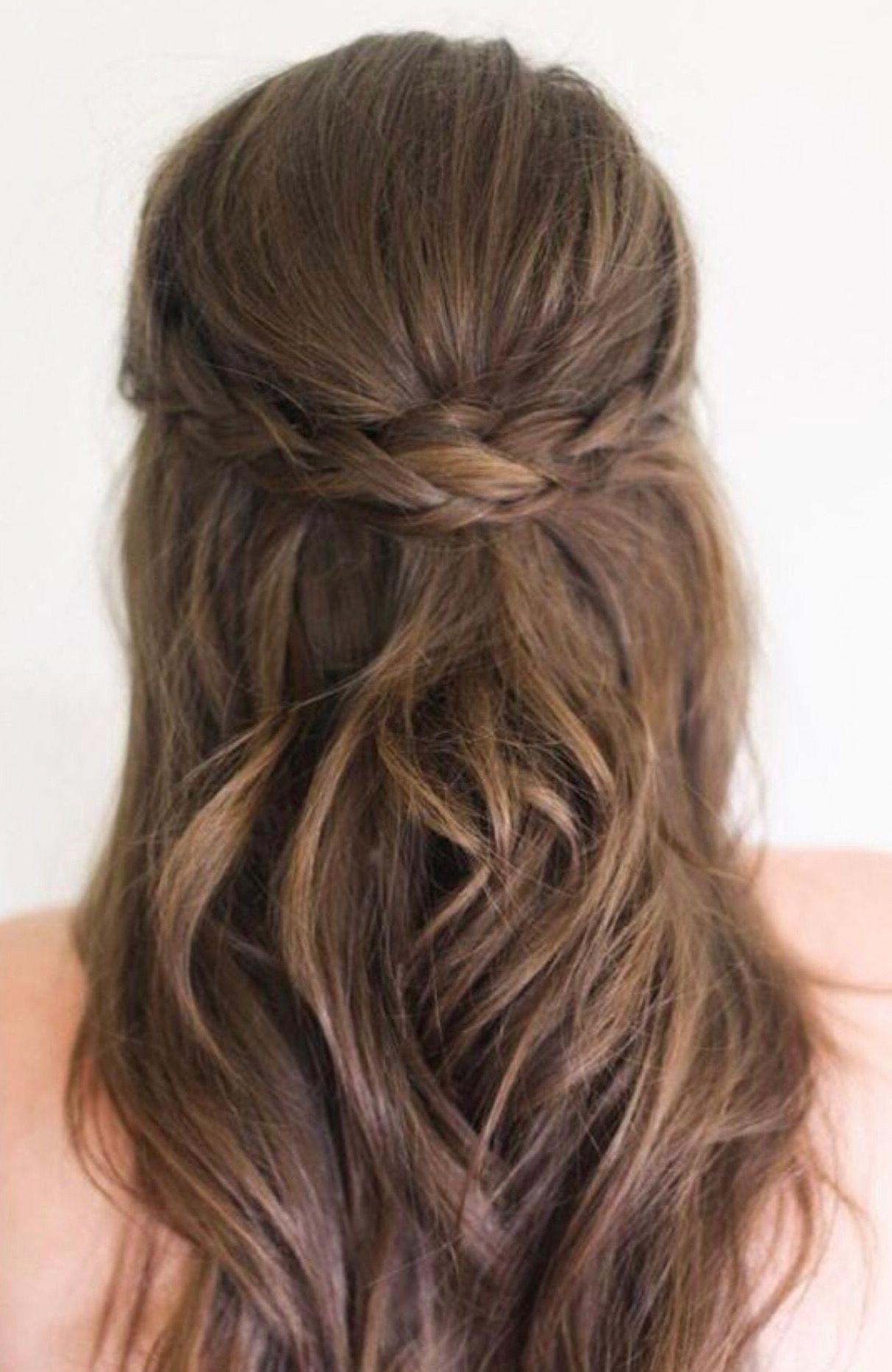 Wedding Hairstyles Half Up Half Down Straight Fall Junior Bridesmaid Wedding Hair Down H Half Up Hair Hair Styles Medium Length Hair Styles