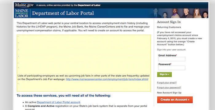 Maine Unemployment Login Maine