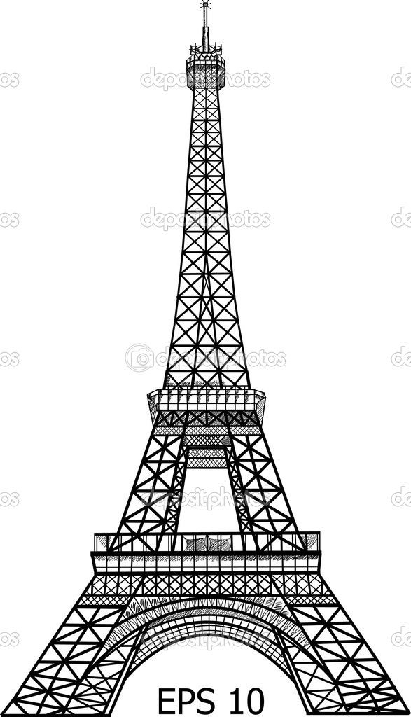 Eiffel tower vector graphic svg files pinterest for Eiffel tower model template