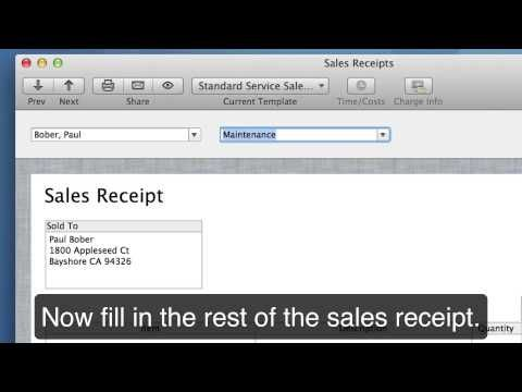 Creating A Sales Receipt Quickbooks User Guide Writing